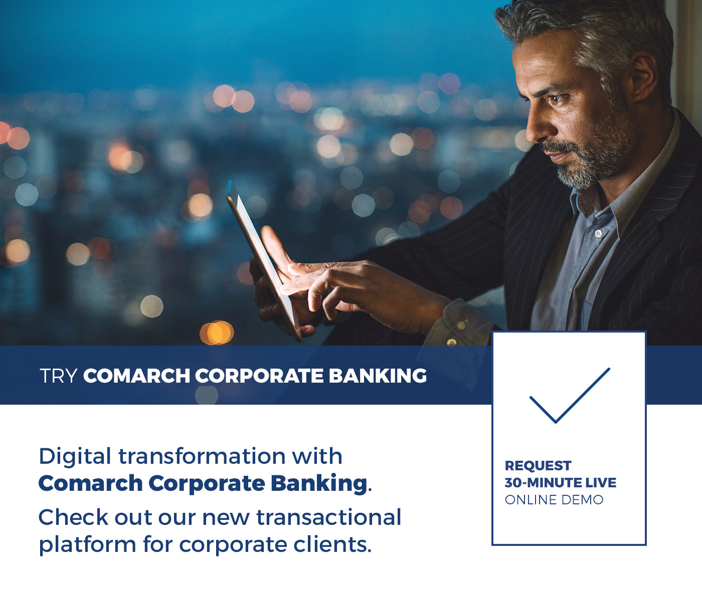 Request Comarch Corporate Banking live demo