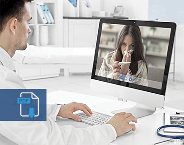 Efficient patient care based on the provision of telemedicine services and electronic health records