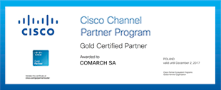 Next year with Cisco Gold Partner status
