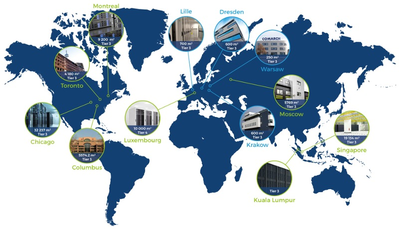 world comarch data centers