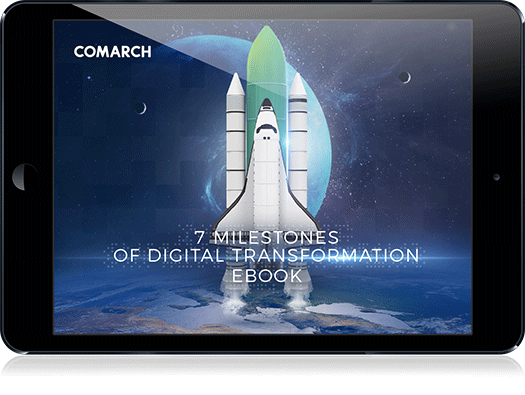7 Milestones of Digital Transformation ebook cover