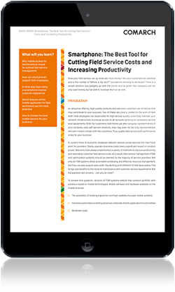 Smartphone - The Best Tool for Cutting Field Service Costs and Increasing Productivity cover