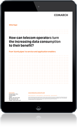 How can telecom operators turn the increasing data consumption to their benefit? cover