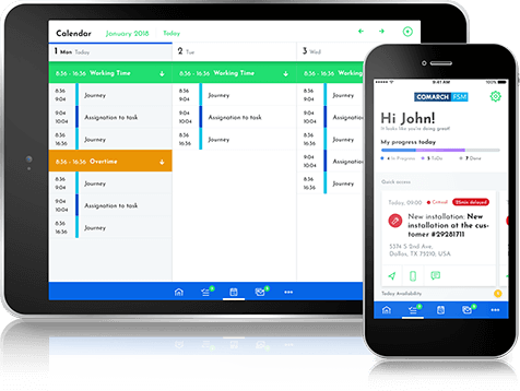 Comarch Field Service Management App screen