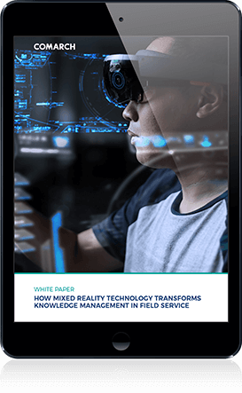 How mixed reality technology transforms knowledge management in field service cover