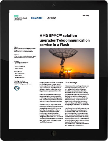 Comarch, HPE and AMD EPYCTM solution upgrades Telecommunication service in a Flash
