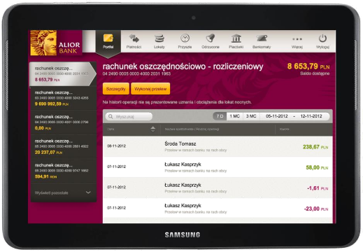 alior bank mobile software