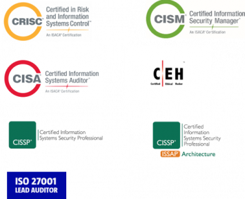 Qualified staff with recognized Cyber Security certificates