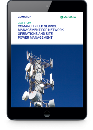 Comarch Field Service Management for Network Operations and Site Power Management