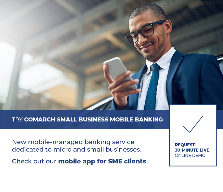 Request Comarch Small Business Mobile Banking live demo
