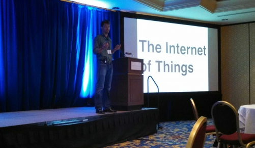 Jerry Filipiak presenting Internet of Things at America's Customer Festival 2014