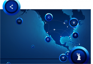 JetBlue TrueBlue Badges interactive user map